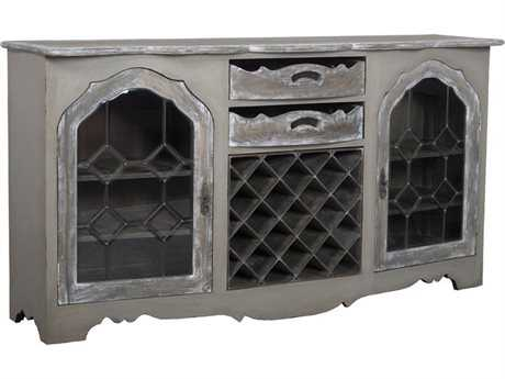 Guild Master Wine Storage Taupe & Gray Credenza