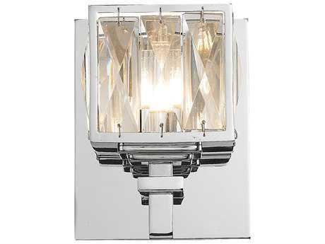 Golden Lighting Neeva Chrome Wall Sconce with K-5 Crystal Glass