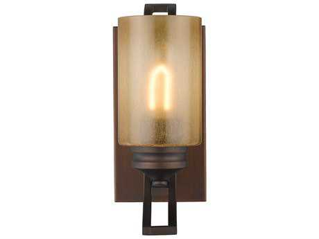 Golden Lighting Hidalgo Sovereign Bronze Wall Sconce with Regal Glass