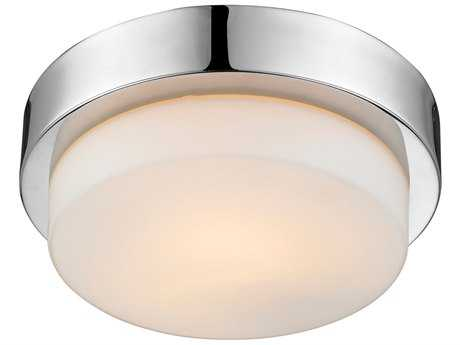 Golden Lighting Multi-Family Chrome 8.5'' Wide Flush Mount Ceiling Light with Opal Glass