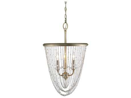 Golden Lighting Sancerre White Gold Three-Light 16.13'' Wide Pendant Ceiling Light