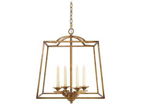 Golden Lighting Athena Grecian Gold Four-Light 18.88'' Wide Pendant Ceiling Light
