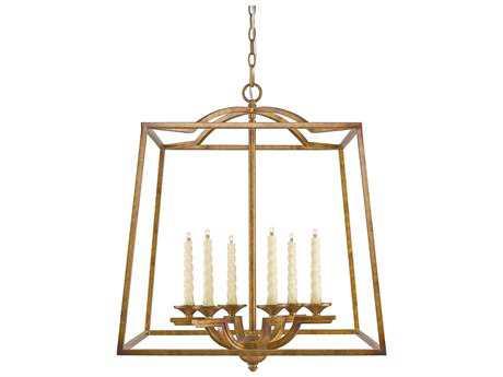 Golden Lighting Athena Grecian Gold Six-Light 22.5'' Wide Pendant Ceiling Light