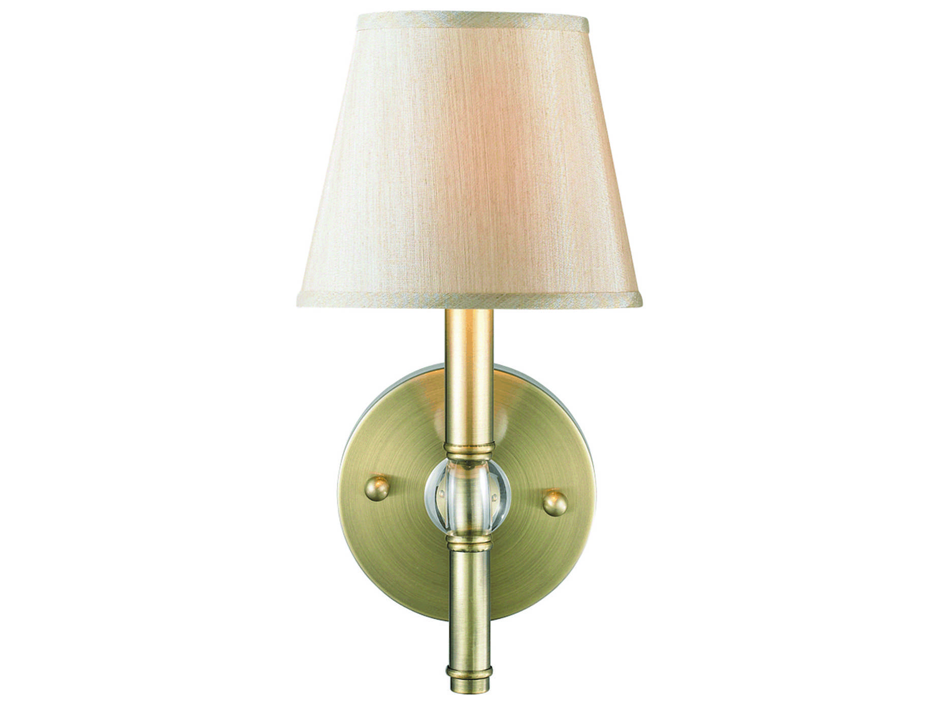 Golden Lighting Waverly Aged Brass Wall Sconce with Silken Parchment Shade GO35001WABPMT