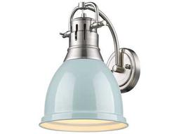 Golden Lighting Duncan Pewter Wall Sconce with Seafoam