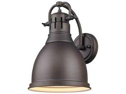 Golden Lighting Duncan Rubbed Bronze Wall Sconce with Rubbed Bronze