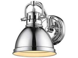 Golden Lighting Duncan Chrome Wall Sconce with Chrome