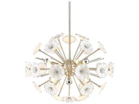 Golden Lighting Kyoto Pewter Six-Light 26'' Wide Chandelier