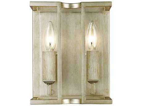 Golden Lighting Bellare White Gold Two-Light Wall Sconce