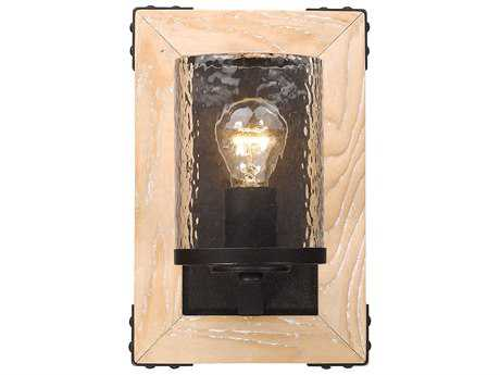 Golden Lighting Eastwood Rustic Bronze 8'' Wide Wall Sconce with Clear Water Glass Shade