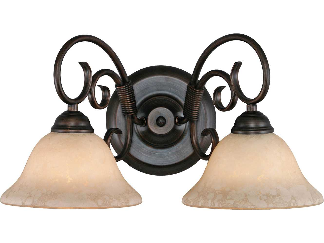 Vanity Lights Stone : Golden Lighting Homestead Rubbed Bronze Two-Light Vanity Light with Tea Stone Glass ...