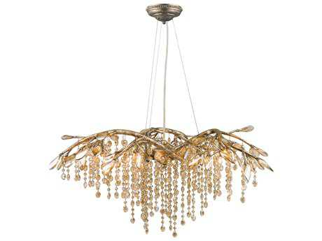 Golden Lighting Autumn Twilight Mystic Gold Six-Light 31'' Wide Chandelier