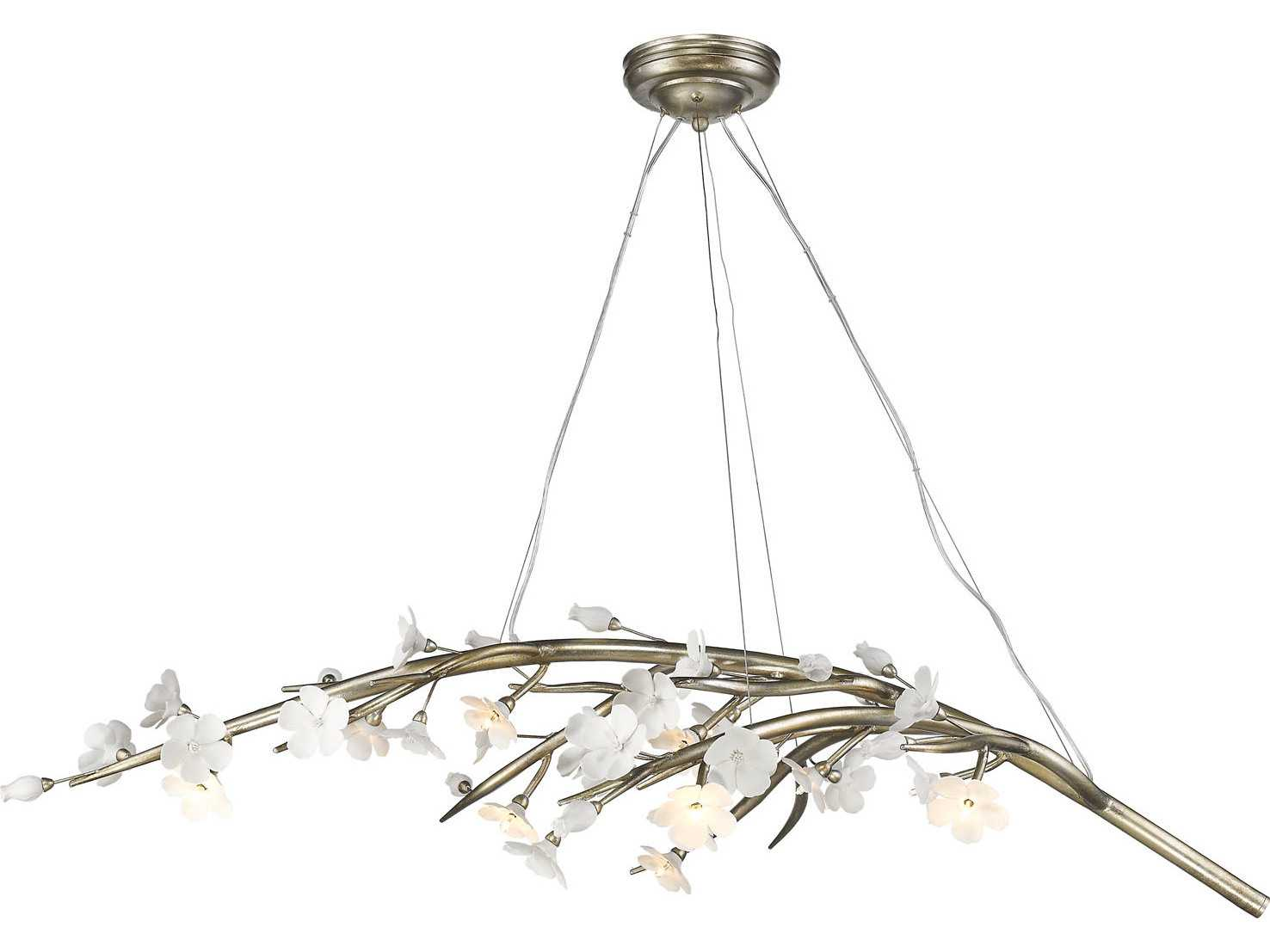 exchange alley chandelier the lotus silver leaf grand products lighting