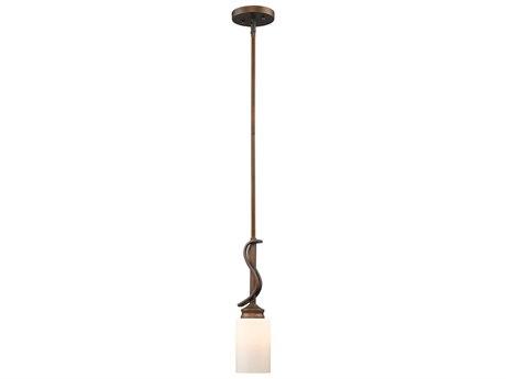 Golden Lighting Hidalgo Sovereign Bronze 5'' Wide Mini-Pendant Ceiling Light with Opal Glass (Open Box)