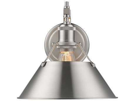 Golden Lighting Orwell Pewter 10'' Wide Vanity Light with Pewter Shade (Open Box)