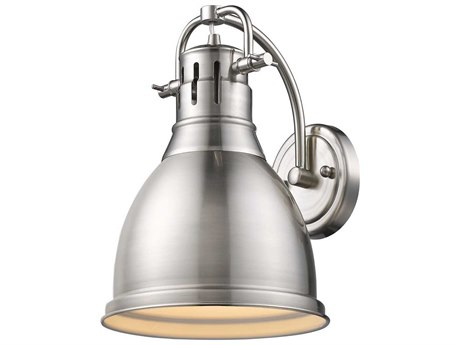 Golden Lighting Duncan Pewter Wall Sconce with Pewter (Open Box)