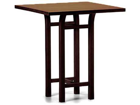 Greenington Tulip 36'' Square Black Walnut Counter Height Table