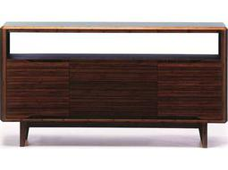 Greenington Currant 54'' x 18'' Rectangular Black Walnut Media Table