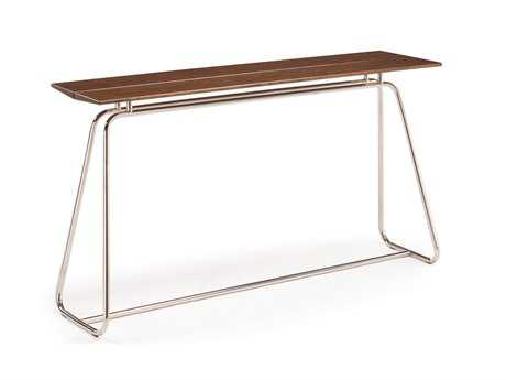 Greenington Paris 48'' x 14'' Rectangular Exotic Cognac Bar Height Table