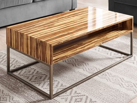 Greenington Accents 45.67'' x 23.7'' Rectangular Toronto Solid Exotic Tiger Bamboo Coffee Table