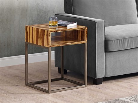 Greenington Accents 16.77'' Square Toronto Solid Exotic Tiger Bamboo End Table
