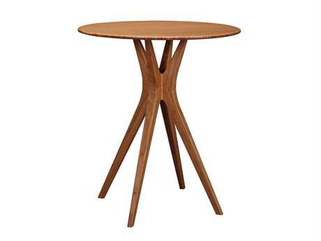 Greenington Mimosa 36'' Round Caramelized Bar Table