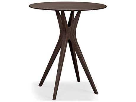Greenington Mimosa 36'' Round Black Walnut Bar Height Table