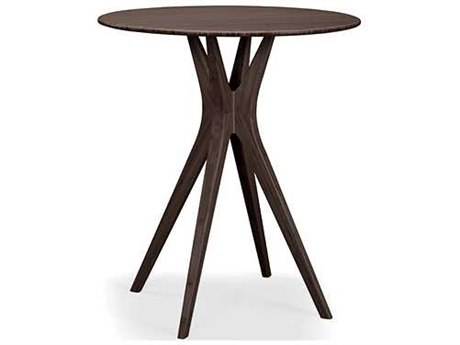 Greenington Mimosa Black Walnut 36'' Round Bar Height Table