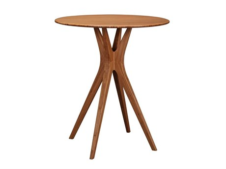Greenington Currant 36'' Round Caramelized Counter Height Table