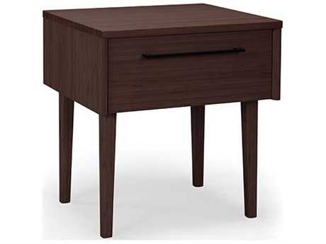 Greenington Sienna 20'' x 18.5'' Rectangular Mocha Nightstand