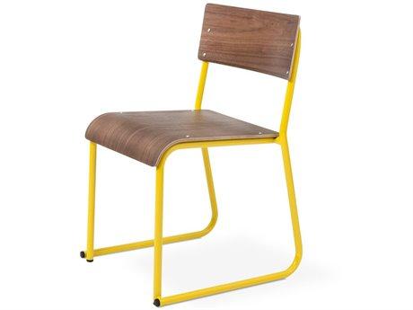 Gus* Modern Church Walnut / Canary Side Dining Chair GUMECCHCHURCPCWN