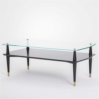 Global Views Reveal 47'' x 23.5'' Rectangular Cocktail Table
