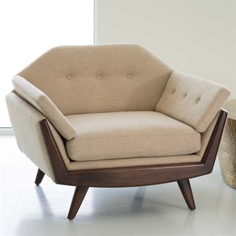 Global Views Greta Grid Natural Lounge Chair