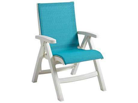 Grosfillex Belize Midback Folding Lounge Chair (Sold in 2)