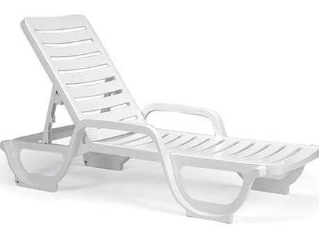 Grosfillex Bahia Resin Stacking Adjustable Chaise (Sold in 6)