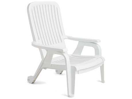 Grosfillex Bahia Resin Stacking Deck Chair (Sold in 10)