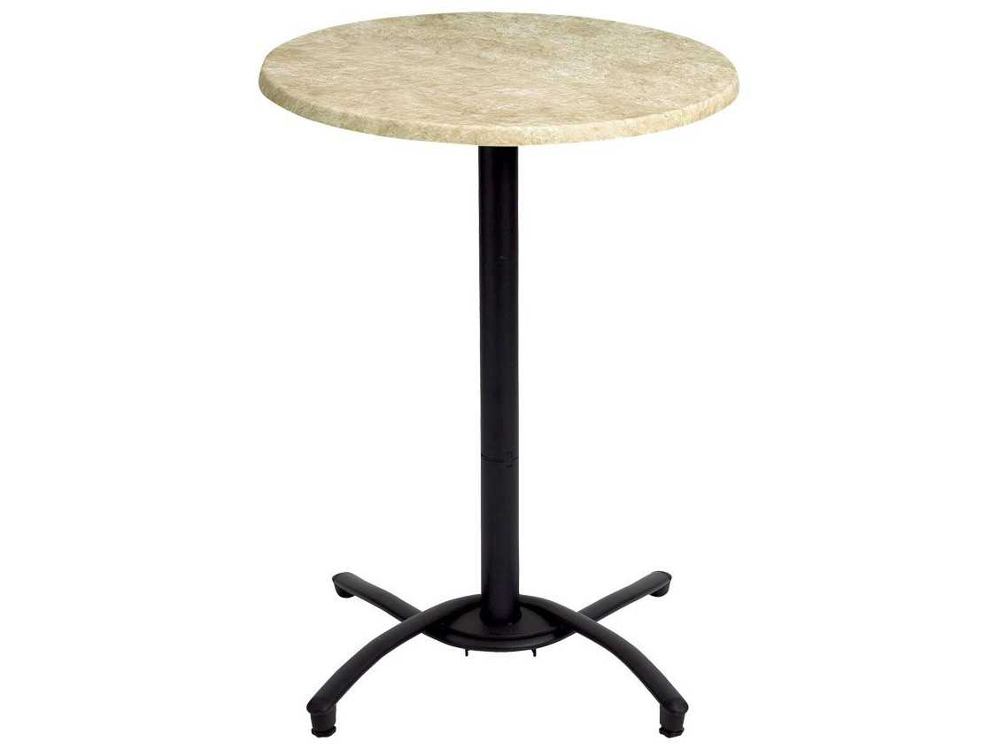 Grosfillex classic aluminum rectangular bar height table for Table exterieur grosfillex