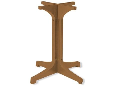 Grosfillex Alpha Resin Teakwood Small Table Base