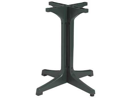 Grosfillex Alpha Resin Amazon Green Small Pedestal Table Base