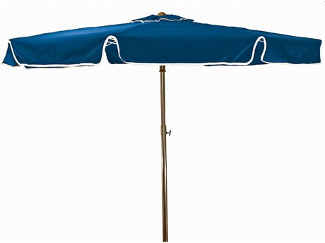 Grosfillex Beachmaster Aluminum 6.5 Foot Fiberglass Umbrella in Pacific Blue