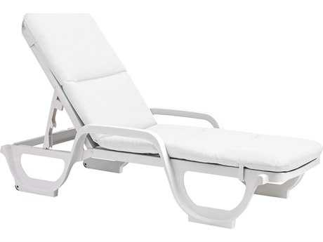 Grosfillex Contract Fiberglass Chaise Cushion with Hood (Sold in 6)