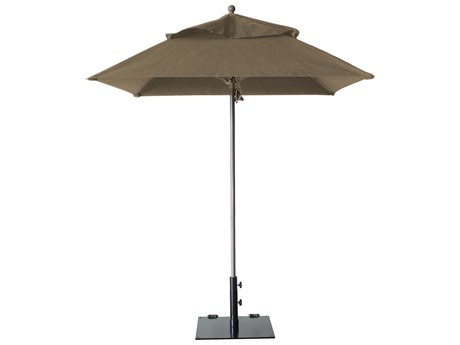 Grosfillex Windmaster Aluminum 6.5 foot Square Fiberglass Umbrella