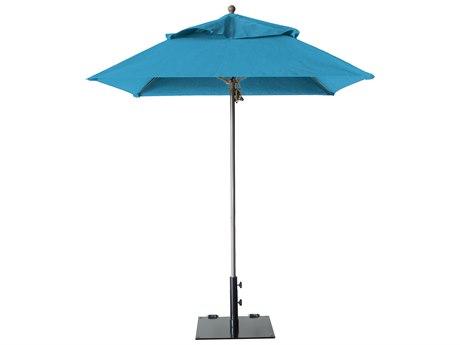 Grosfillex Windmaster Aluminum 6.5 foot Square Fiberglass Umbrella
