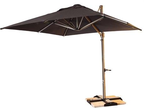 Grosfillex Windmaster Aluminum 10 Foot Square Cantilever Umbrella