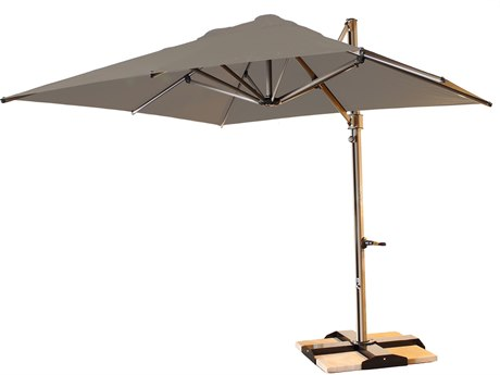 Grosfillex Windmaster Aluminum 10 foot Square Cantilever Umbrella