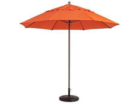 Grosfillex Windmaster Aluminum 9'' Foot Round Fiberglass Umbrella in Orange