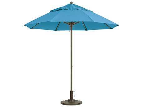 Grosfillex Windmaster Aluminum 9'' Foot Round Fiberglass Umbrella in Sky Blue