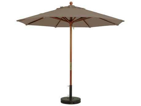 Grosfillex Market 7 Foot Wooden Umbrella