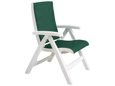 Grosfillex Jersey Midback Resin Folding Sling Lounge Chair (Sold in 2)