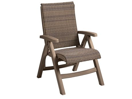 Grosfillex Java Wicker Folding Chair (Sold in 2)